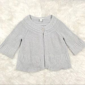 WHBM Medium Open Knit Cardigan Sweater Glitter